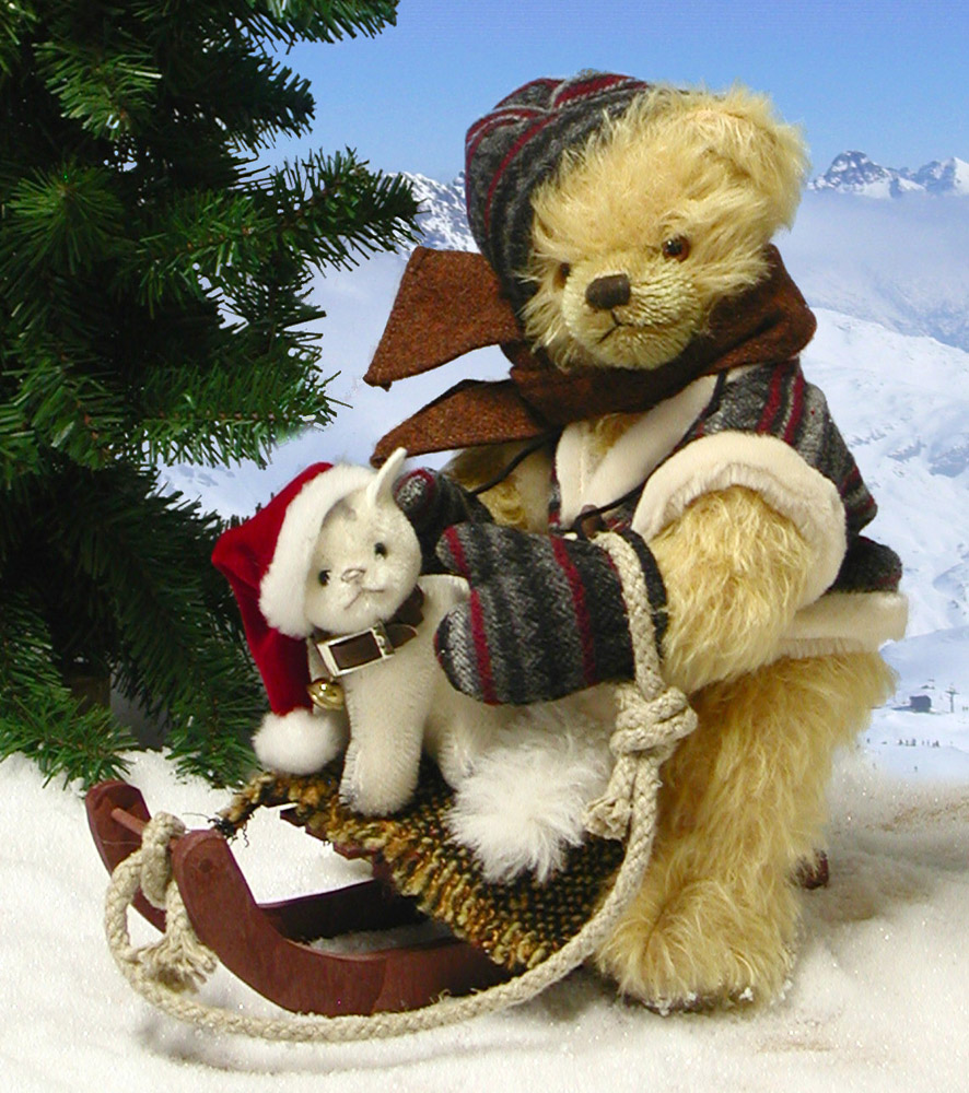 Jolly Sleigh Ride With Cat